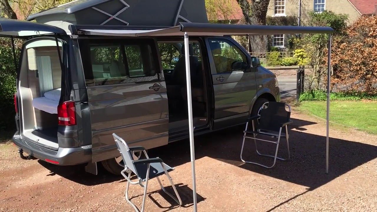 Vw T5 California Awning Table And Chairs Youtube
