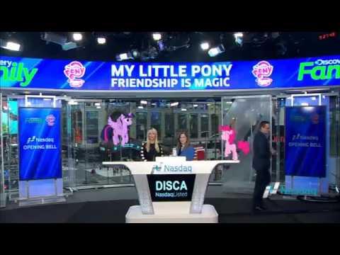 Ponies at Nasdaq Bell Ringing - Season 7 Celebration