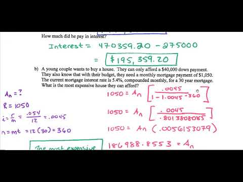 Loans and Amortization Exercise Solutions
