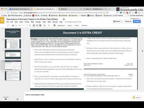 Nomadic People of Era 2 (Document 3): Extra Credit