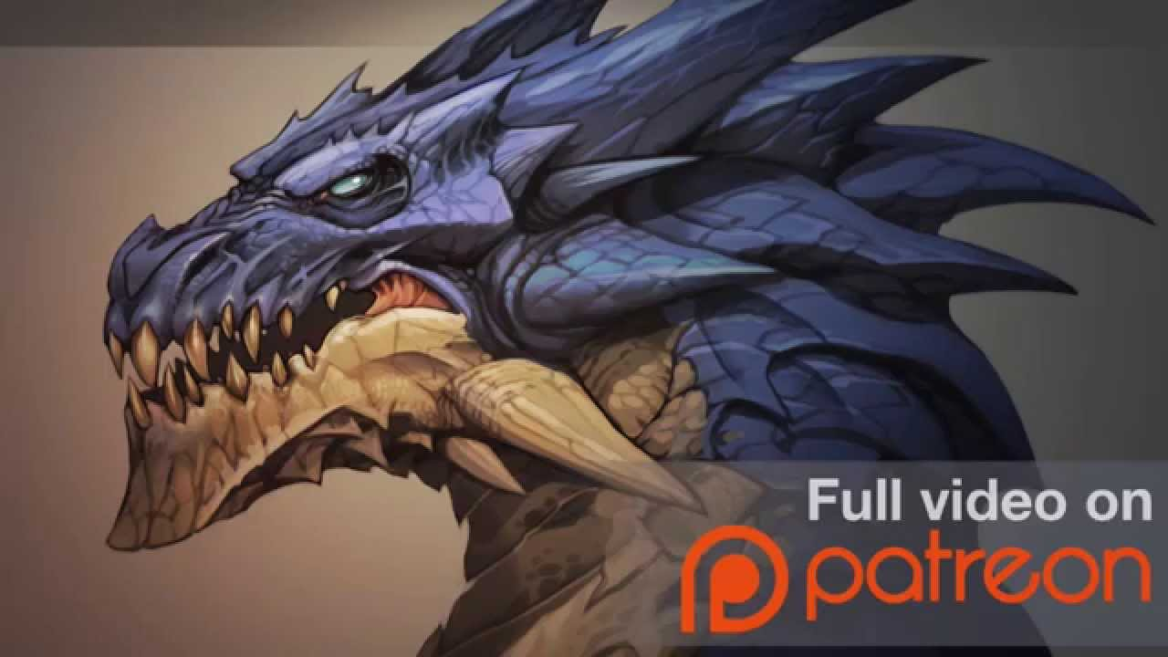 painting a dragon head patreon trailer youtube