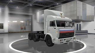 Euro Truck Simulator 2 обзор мода (Камаз 54115 из Сериала дальнобойщики)