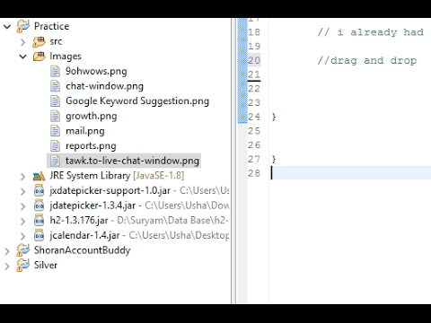 Eclipse - How to Add Images to Source Folder Eclipse IDE