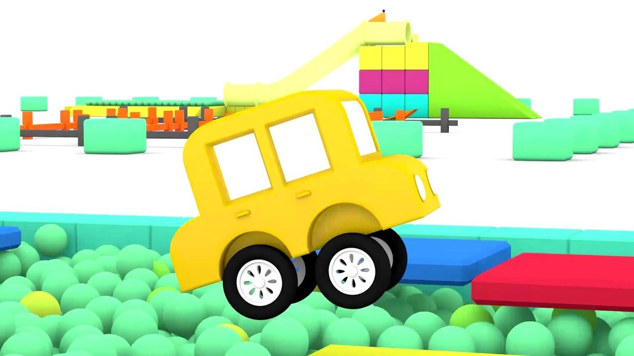 lehrreicher zeichentrickfilm die 4 kleinen autos fahren ein rennen youtube. Black Bedroom Furniture Sets. Home Design Ideas