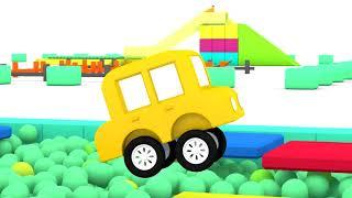 Lehrreicher Zeichentrickfilm - Die 4 kleinen Autos fahren ein Rennen