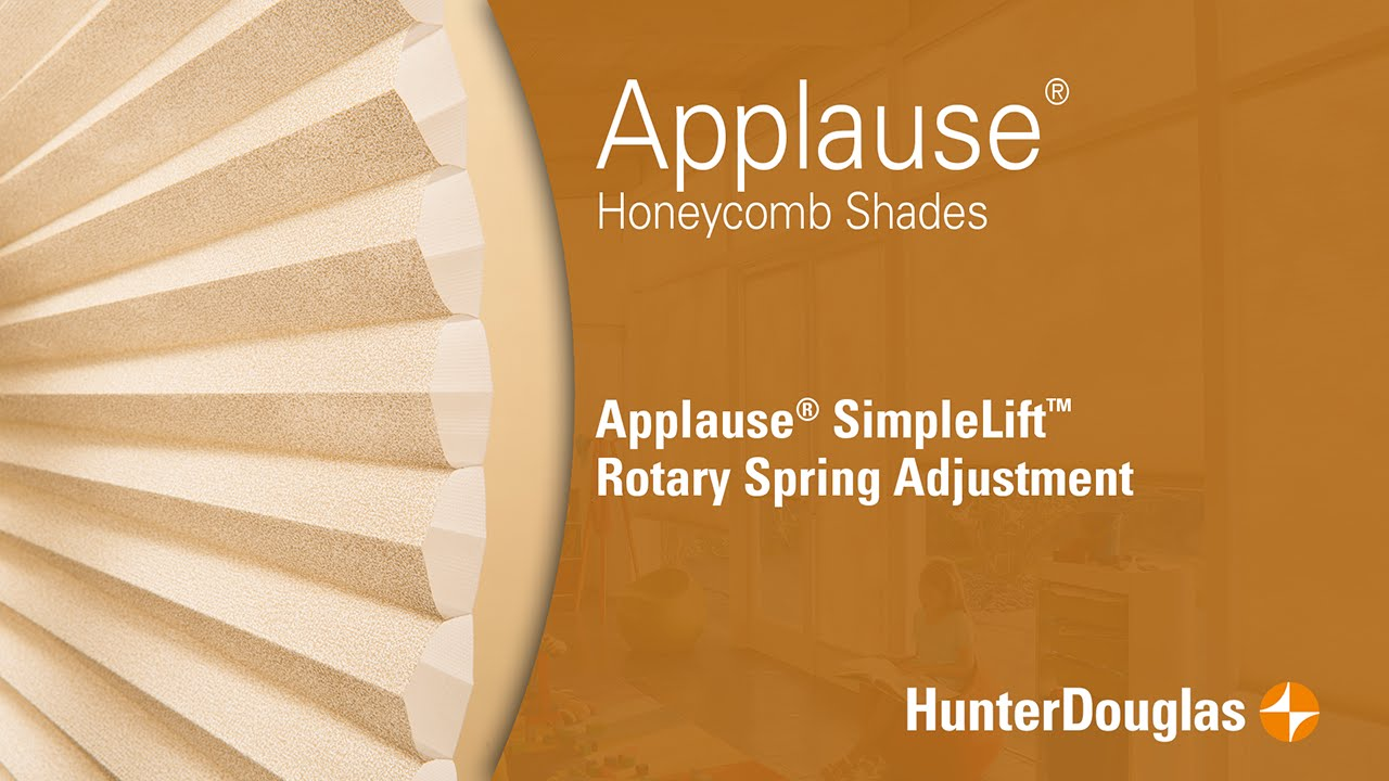 Applause Honeycomb Shades Simplelift Spring Tension Adjustment Hunter Douglas Youtube