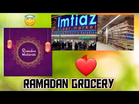 Ramadan Grocery Shopping VLOG At Imtiaz Super Market Karachi // Essentials By Sarah|