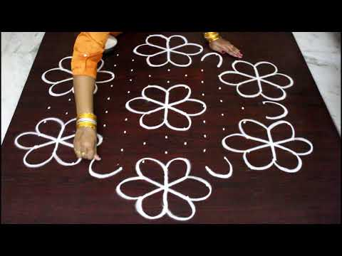 13 dots Sankranthi muggulu for 2018 - pongal kolam designs with dots- easy and simple rangoli