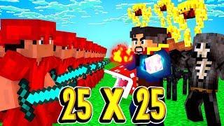 25 VS 25! БИТВА С НЕКРОМАНТОМ И ВСТРЕЧА С МОИМ СЫНОМ ЗОГОЙ! Minecraft