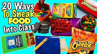 20 Super Smart Ways To Sneak Food Into Class Without Getting Caught By Your Teacher | Nextraker