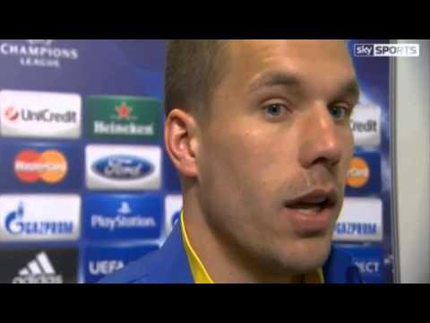 Bayern Munich 1 Arsenal 1 :  Lukas Podolski Post Match Reaction