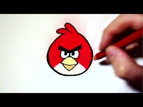 Comment dessiner angry birds tutoriel youtube - Dessin de angry birds ...