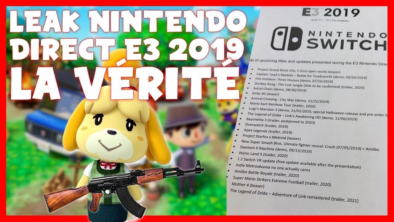 Leak Nintendo Direct E3 2019 : La Vérité !