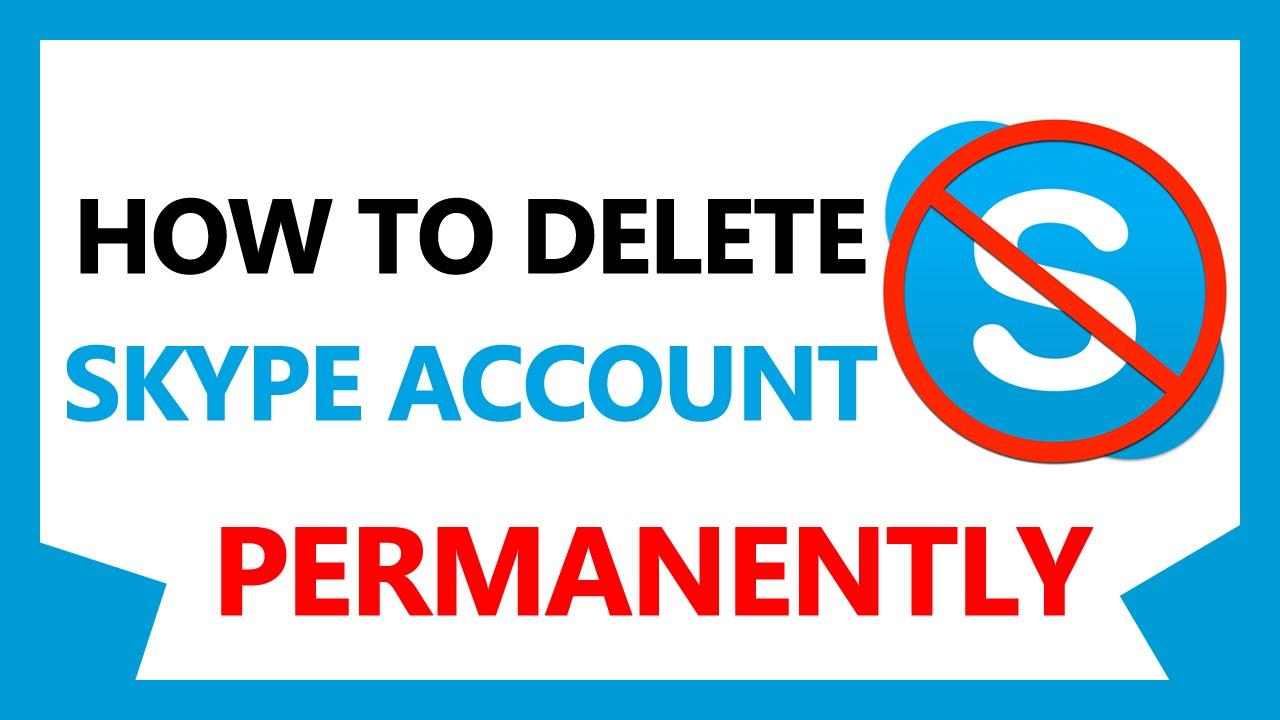 how to delete my skype account