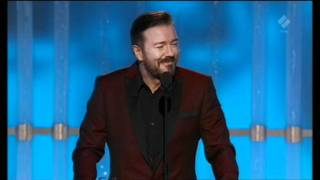 Ricky Gervais Golden Globes 2012 Opening Monologue Thumbnail