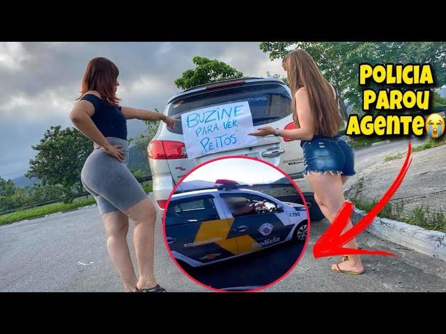 POLICIAL ABORDOU AGENTE NA TROLLAGEM *rasgou o cartaz