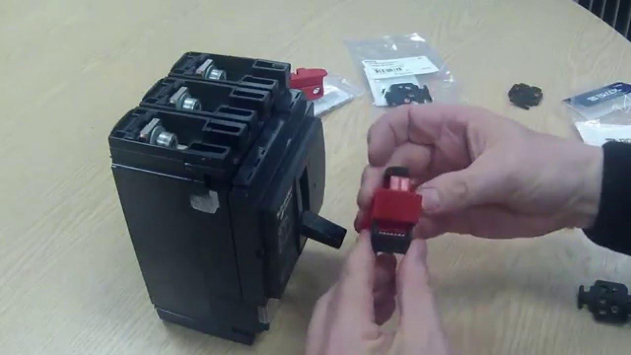 mccb lockout for schneider nsx250 [ 1280 x 720 Pixel ]