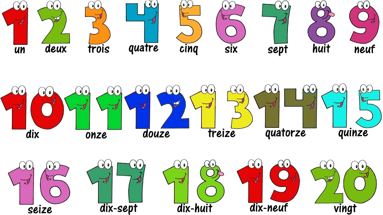 french lesson numbers 1