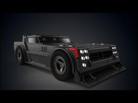 """""""NFZ Zombie molot"""". Car concept. 3D Coat, Keyshot."""