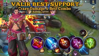 VALIR META SUPPORT PALING AMPUH BUAT NAIKIN POINT DI MYTHIC | MOBILE LEGENDS