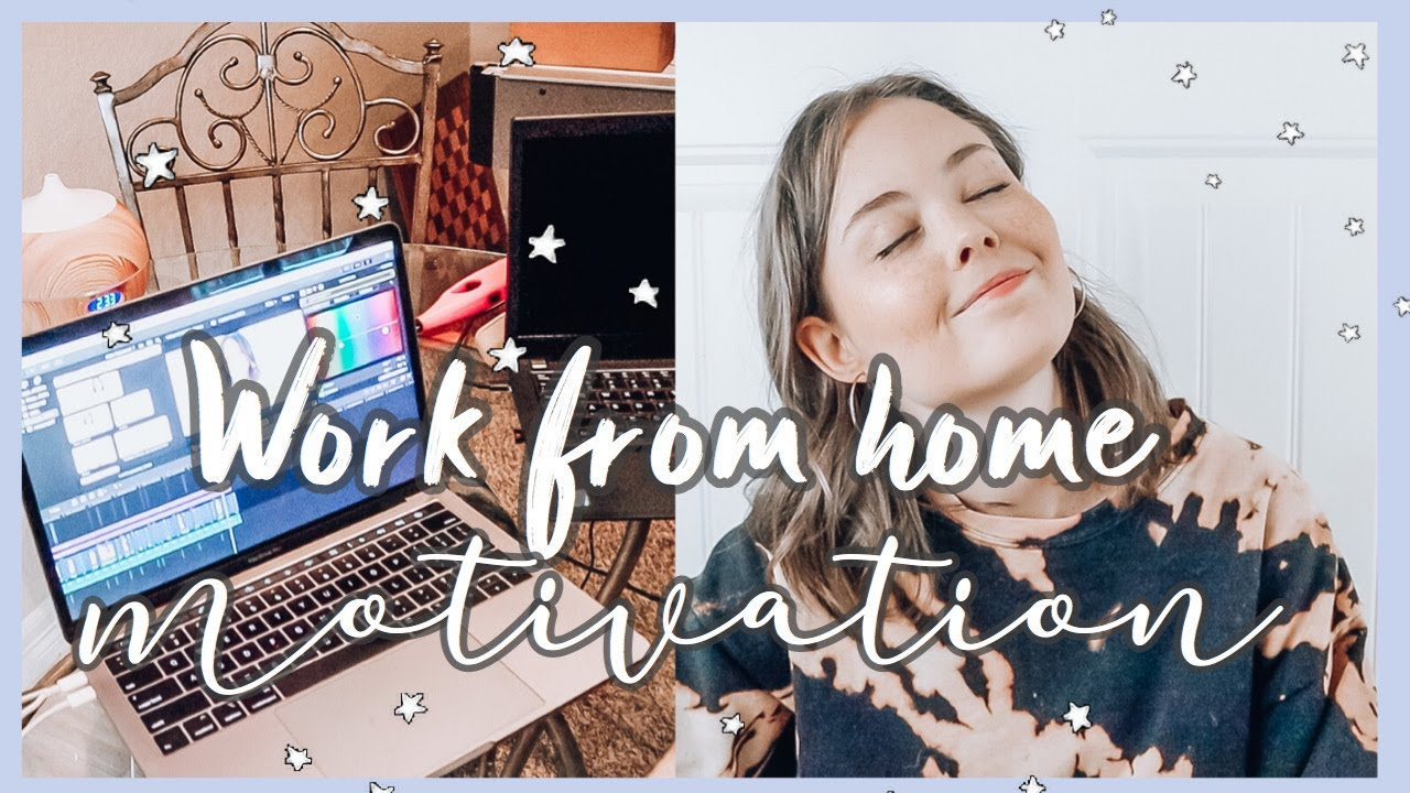 How to stay motivated when you work from home! *PRODUCTIVE* Working from home tips 2020