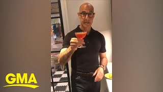 We'll have whatever he's having! stanley tucci showed off his bartender skills right at very own at-home bar.subscribe to gma's page: https://bi...