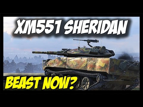 ► XM551 SHERIDAN - BEAST? - Tier 10 USA Light Tank - World of Tanks XM551 Sheridan Gameplay