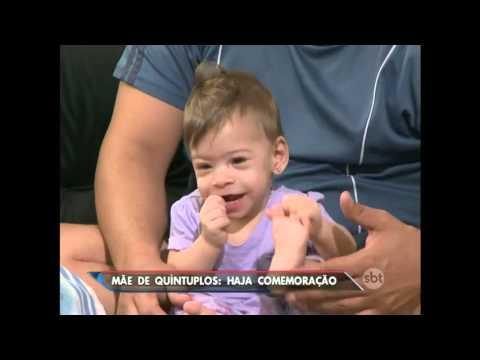 SBT Brasil (07/05/16) Conheça a rotina de uma mãe de quíntuplos