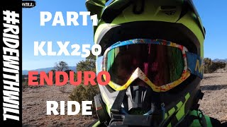 PT1 KLX250 and WR250 enduro technical riding | Can the KLX250 handle enduro riding?