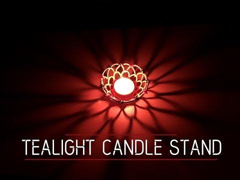 How to make Tealight candle stand | DIY | Apna Craft