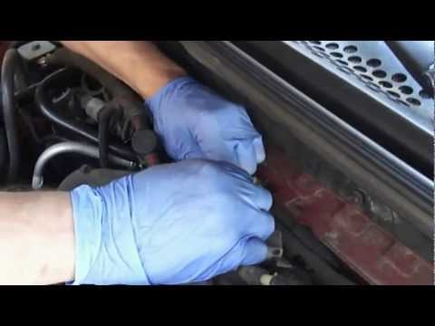 Location of the Ford Mustang 19971998 AC Vacuum tubeshoses  YouTube