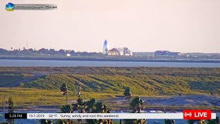 STARSHIP CAM - Live View of Starship and Launch Pad at SpaceX Boca Chica from South Padre Island