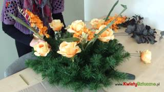 Jak zrobić wieniec na cmentarz z kwiat�...