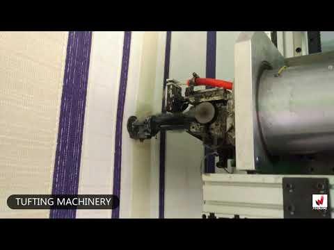 Carpet making videos, robotic tufting machine