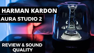 Harman Kardon Aura Studio 2 - Unboxing - Review - Sound Test - Bluetooth Home speaker 2018