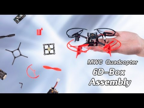 Drone 6D-BOX MWC Multiwii Quadcopter Assembly Tutorials-Unboxing, Installing, Debugging, Calibration