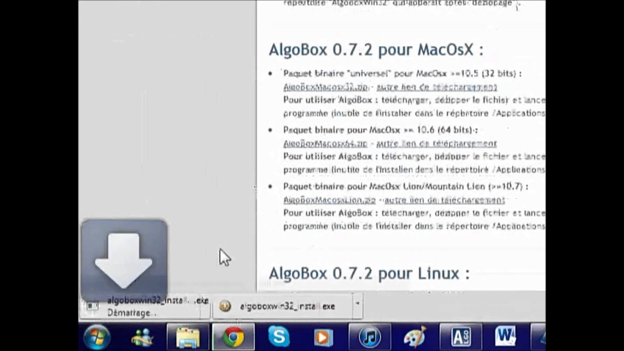 algobox pour windows 7 32 bits