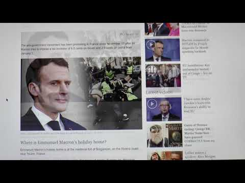 BREAKING!!!!!  MACRON IN CRISIS! RIVIERA COUNTRY HOME STORMED BY YELLOW VEST PROTESTERS