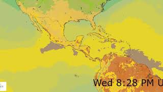 Central America Surface Temperature Weather Forecast HD: 18 Nov 2019 [Updated at 0000 hours UTC]