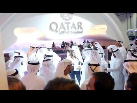 Qatar Airways at Arabian Travel Market 2017