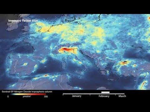 Coronavirus, i dati Esa: il blocco ha ridotto l'inquinamento sull'Italia