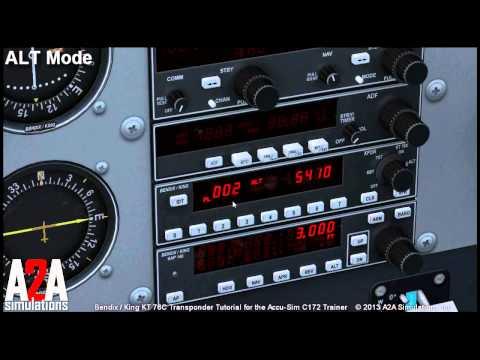 A2A C172 Avioncs Tutorials:  Transponder