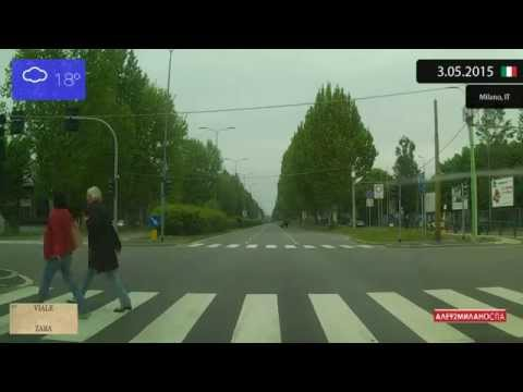 Driving Through Milano (Italy) From Stazione Centrale To Limbiate 3.05.2015 Timelapse X4