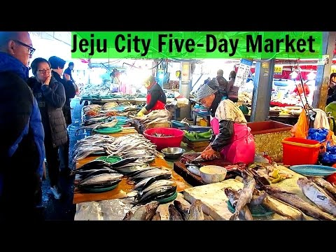 Korean Market - Jeju Island Five-Day Market 제주시 민속 오일장