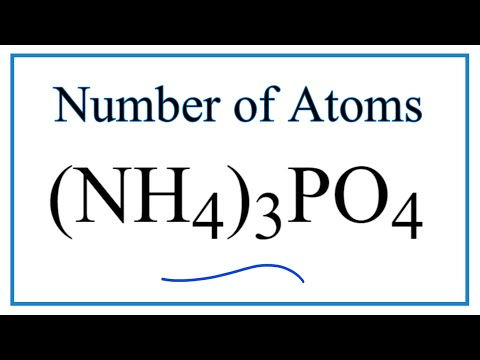 How To Find The Number Of Atoms In (NH4)3PO4     (Ammonium Phosphate)