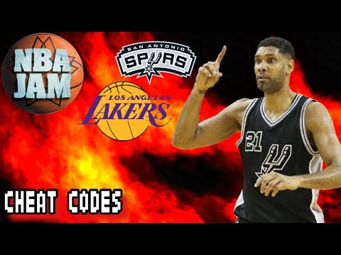 NBA Jam PS2 Gameplay - San Antonio Spurs @ Los Angeles Lakers (ABA Ball)