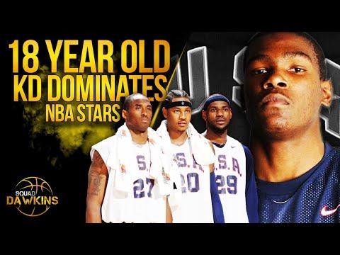 The Game Pre Rookie Season Kevin Durant Put On a Show vs  Bron x NBA All Stars | SQUADawkins