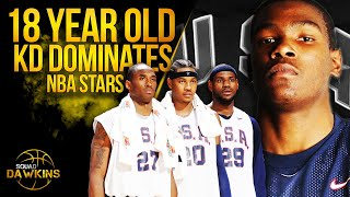 The Game Pre Rookie Season Kevin Durant Put On a Show vs  Bron x NBA All Stars | SQUADawkins