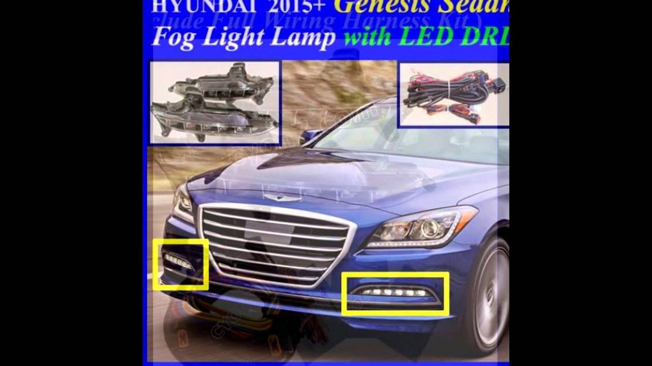 2015 2017 hyundai genesis sedan fog light lamp complete. Black Bedroom Furniture Sets. Home Design Ideas