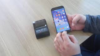 Установка мобильного принтера на телефон MOBILE PRINTER